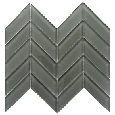 Edge 1 x 2 Glass Mosaic Tile in Pewter
