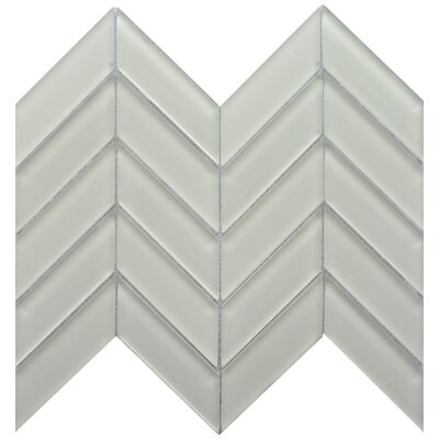 Edge 1 x 2 Glass Mosaic Tile in White