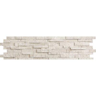 Presidio Splitface 6 x 24 Limestone Mosaic Tile in Ivory