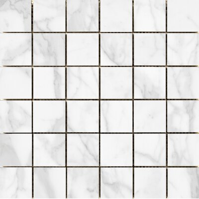 Quest Polished 2 x 2 Porcelain Mosaic Tile in White