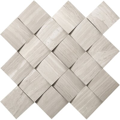 Metro Cushion 2 x 2 Marble Mosaic Tile in Cream