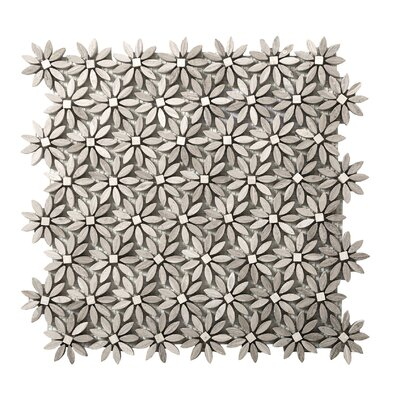 Metro Daisy Random Sized Marble Mosaic Tile in Cream