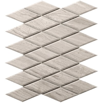 Metro Diamond 2 x 4 Marble Mosaic Tile in Cream