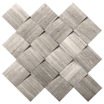 Metro Cushion 2 x 2 Marble Mosaic Tile in Gray