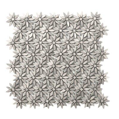 Metro Daisy Marble Mosaic Tile in Gray