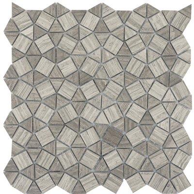 Metro Gem 1 x 1 Marble Mosaic Tile in Gray