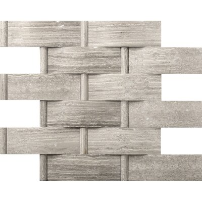 Metro Lattice 2 x 4 Marble Mosaic Tile in Gray
