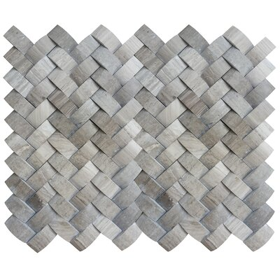 Metro Twine 1 x 1 Marble Mosaic Tile in Gray