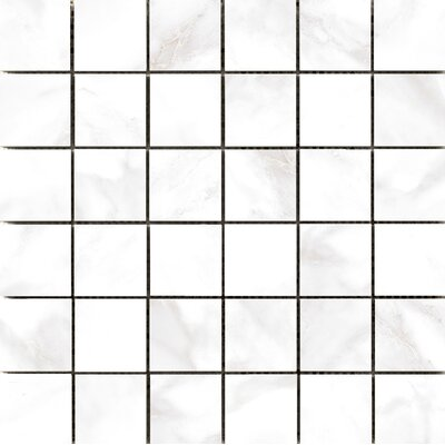 Residenza Glazed 2 x 2 Ceramic Mosaic Tile in Calacata