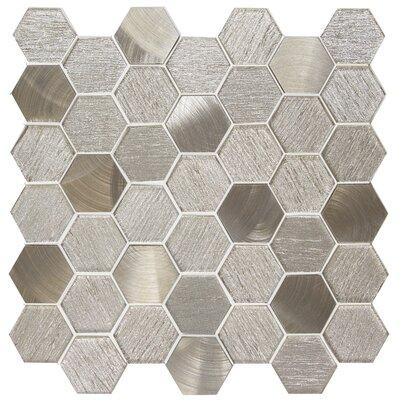 Glitz 2 x 2 Glass/Aluminum Mosaic Tile in Joy
