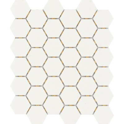 Zone Hex 2 x 2 Porcelain Mosaic Tile in Matte White