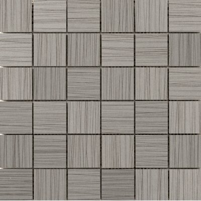 Thread 2 x 2 Porcelain Mosaic Tile in Gray