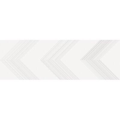 Vertigo 10 x 30 Ceramic Field Tile in White Chevron