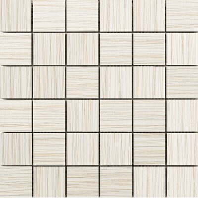 Thread 2 x 2 Porcelain Mosaic Tile in Ivory