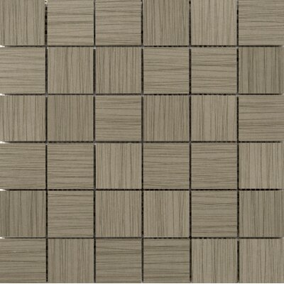 Thread 2 x 2 Porcelain Mosaic Tile in Olive