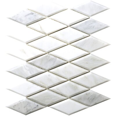 Winter Diamond Marble Mosaic Tile in Frost