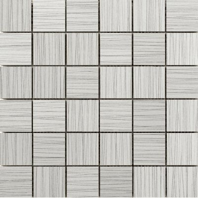 Thread 2 x 2 Porcelain Mosaic Tile in Silver