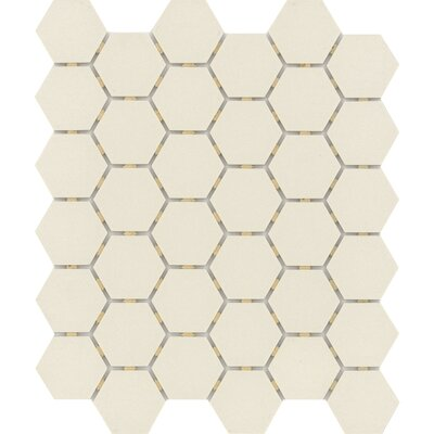Zone Hex 2 x 2 Porcelain Mosaic Tile in Matte Bone