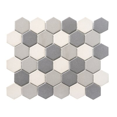 Zone Blend 2 x 2 Porcelain Mosaic Tile in Matte Dark