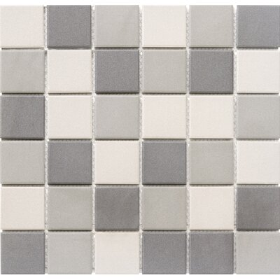 Zone Blend 2 x 2 Porcelain Mosaic Tile in Matte Dark