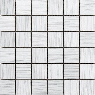 Thread 2 x 2 Porcelain Mosaic Tile in White