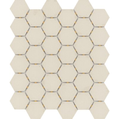 Zone Hex 2 x 2 Porcelain Mosaic Tile in Matte Fawn