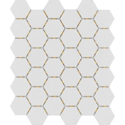 Zone Hex 2 x 2 Porcelain Mosaic Tile in Matte Gray