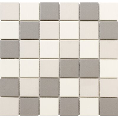 Zone Blend 2 x 2 Porcelain Mosaic Tile in Matte Light