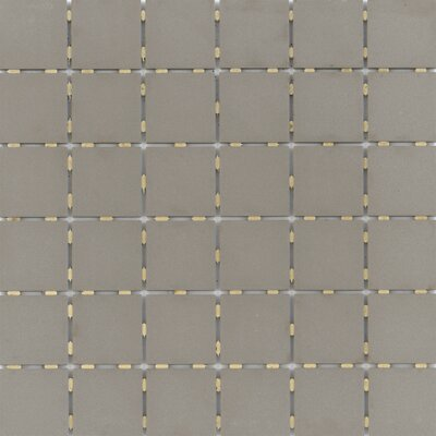 Zone 2 x 2 Porcelain Mosaic Tile in Matte Taupe