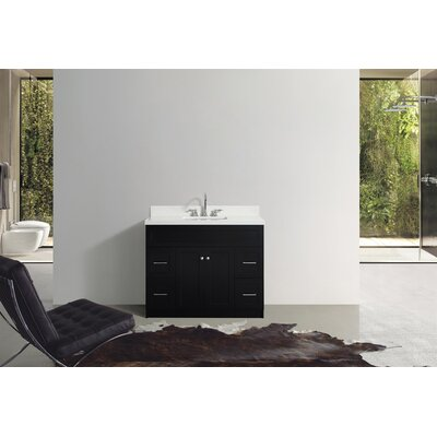 Westman 43 Single Bathroom Vanity Set Base Finish: Black