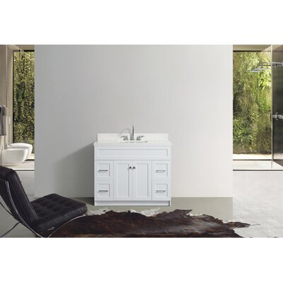 Westman 43 Single Bathroom Vanity Set Base Finish: White