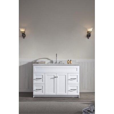 Westman 49 Single Bathroom Vanity Set Base Finish: White, Top Finish: White