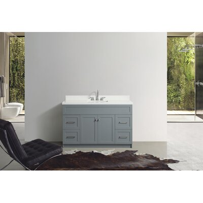 Westman 55 Single Bathroom Vanity Set Base Finish: Gray