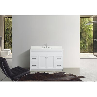 Westman 55 Single Bathroom Vanity Set Base Finish: White