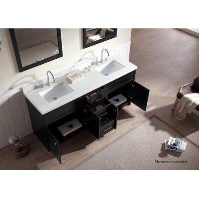 Westman 73 Double Bathroom Vanity Set Base Finish: White, Top Finish: White