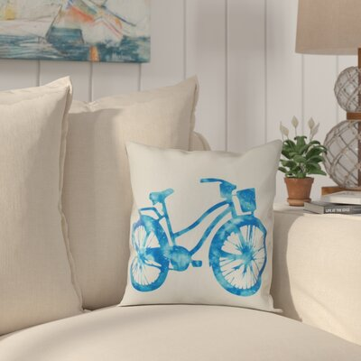 Golden Beach Life Cycle Geometric Throw Pillow Size: 18 H x 18 W, Color: Turquoise