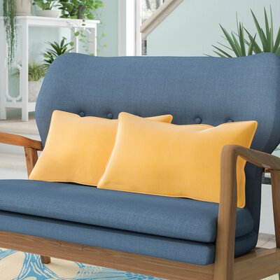 Wyckoff Reversible Outdoor Lumbar Pillow Color: Sunflower