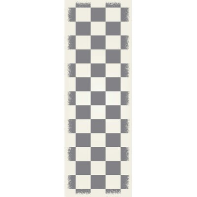 Woldeselassie Checker Gray/White Indoor/Outdoor Area Rug Size: Runner 2 x 6