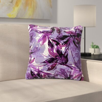 Floral Fiesta Throw Pillow Size: 20 H x 20 W x 7 D, Color: Purple / Multi
