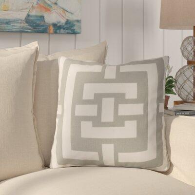 Busti Cotton Throw Pillow Color: Gray, Filler: Down