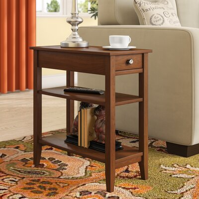 Greenspan End Table With Storage� Color: Mahogany