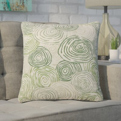 Zeus Graphic Linen Throw Pillow Color: Green