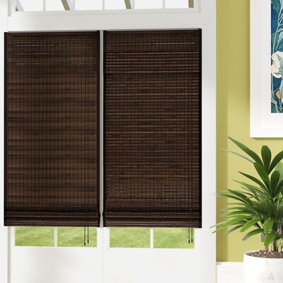Chocolate Roman Shade Blind Size: 57 W x 72 L