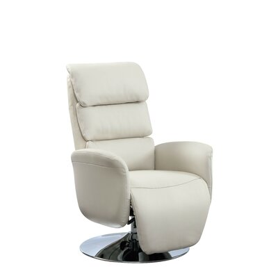 Jozwiak Leather Recliner Upholstery: Sand