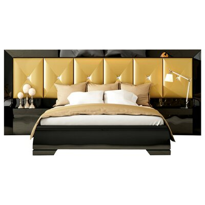Kollman Special Headboard Panel 4 Piece Bedroom Set Size: King