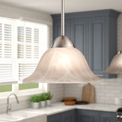 Thomson 1-Light Mini Pendant Finish: Brushed Nickel