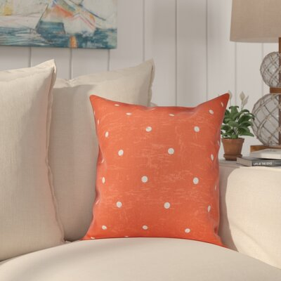 Golden Beach Dorothy Dot Geometric Outdoor Throw Pillow Size: 18 H x 18 W, Color: Orange