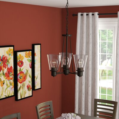 Selinsgrove 3-Light Shaded Chandelier Finish: Oil Rubbed Bronze