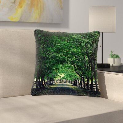 Robin Dickinson Welcome Home Trees Outdoor Throw Pillow Size: 16 H x 16 W x 5 D