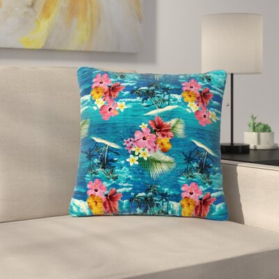 Victoria Krupp Paradise Island Floral Outdoor Throw Pillow Size: 18 H x 18 W x 5 D
